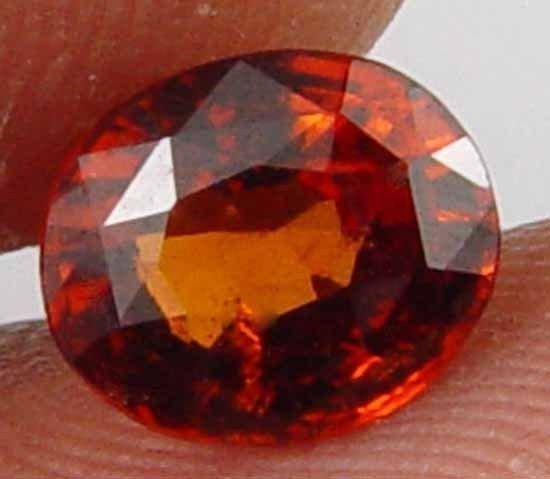 HESSONITE GARNET 1.55 CT Glowing Oval Natural Astrological Gemstone 10101131