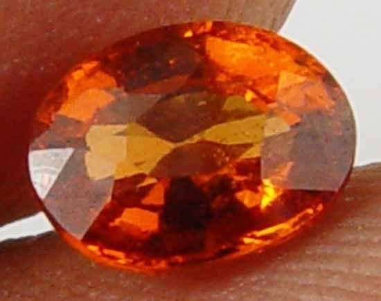 1.05CT Glowing Orange Fire Natural Hessonite 10091534