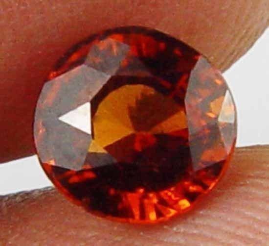 1.35CT Almost Round Natural Hessonite Garnet 10091551