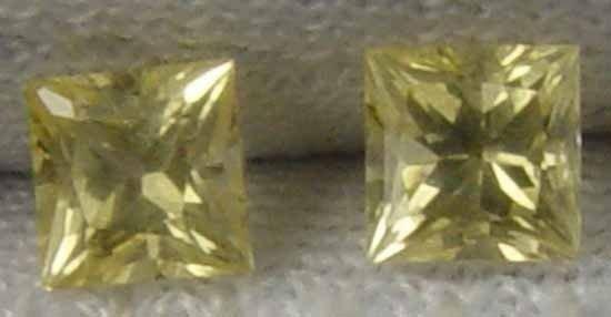 YELLOW SAPPHIRE Glowing 0.75 Ct Natural Loose Gem Pair for Earings 12012574
