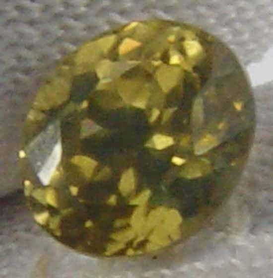 ZIRCON Natural Gorgeous Yellow Color Gem 1.15 Ct 6.04 x 05.15 MM 12012540