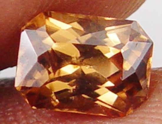 Perfect Cut Octagon Gorgeous Brown Glow 2.70CT Earth Mined Zircon Gem 11060558