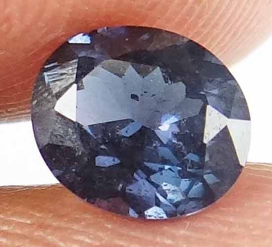 SPINEL Natural 1.30 CT 7.21 X 6.25 MM Untreated Oval Cut Blue Color Gem 13021821