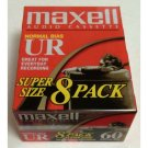 Maxell UR 60 8 Pack Normal Bias Audio Cassette  IEC Type I
