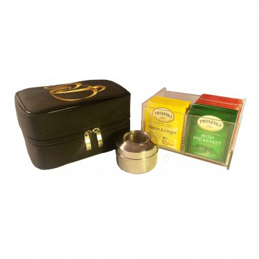 Teacaso Travel Tea Chest w/ Twinings Tea and Spice Jar