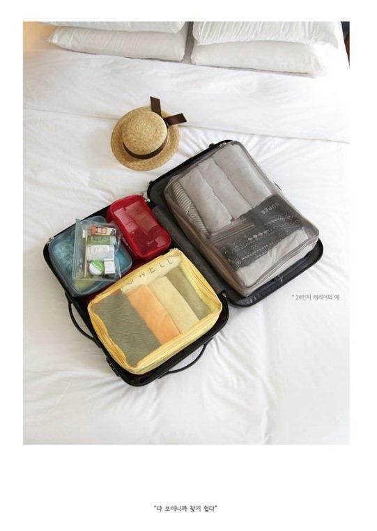 Korean Travel Packing Cubes (Set of 4)