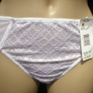 Felina White Mesh & Lace Sheer Bikini Panty 90089 M NWT