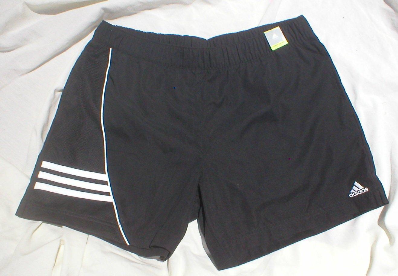 Adidas Black Athletic Shorts L NWT