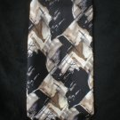 Pierre Cardin Men's Black & Brown Silk Print Tie