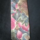 Bill Blass Men's Rose & Gray Print Silk Tie