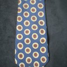 Ralph Lauren Chaps Men's BLue, Taupe, Tan Circle Print Silk Tie