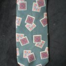 Christian Dior Men's Teal Square Print Silk Tie
