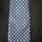 Ralph Lauren Polo Men's Blue & White Circle Print Silk Tie
