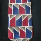 Pattinni Collection Red, Blue, Taupe, Tan Print Silk Tie