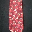 Bill Blass Men's Red & Cream Circle Print Silk Tie
