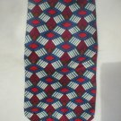 Via Manzoni Blue, Red, Purple Silk Men's Business Tie