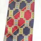 Tommy Hilfiger Yellow, Red, Blue Print Silk Men's Business Tie