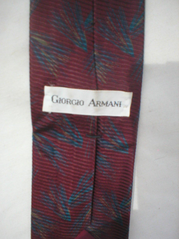 Giorgio Armani Blue & Red Print Silk Men's Business Tie