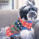 Doggiduds Primary Color Inca Print Sweater M NEW