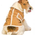 Fashion Pet Tan Faux Suede Shearling Coat XS XSmall