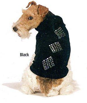 Fashion Pet Black Diamond Dazzle Sequin Dog Sweater S NWT