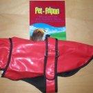 Pet Fripon Red & Black Waterproof Dog Coat S NWT