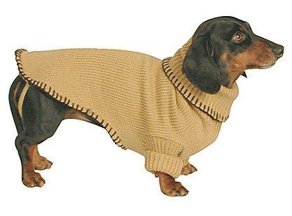 Doggiduds Tan Saddle Stitch Sweater M NWT