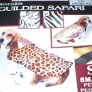 Doggiduds Brown & Black Guilded Safari Cheetah reversible Dog Coat L NWT