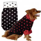 Doggiduds Black & Red Ditsy Dot Knit Dog Sweater M NWT