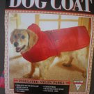 Doggiduds Red Insulated Nylon Parka Dog Coat M NWT
