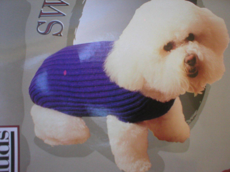 Doggiduds Blue Knit Tricot Dog Sweater M NWT