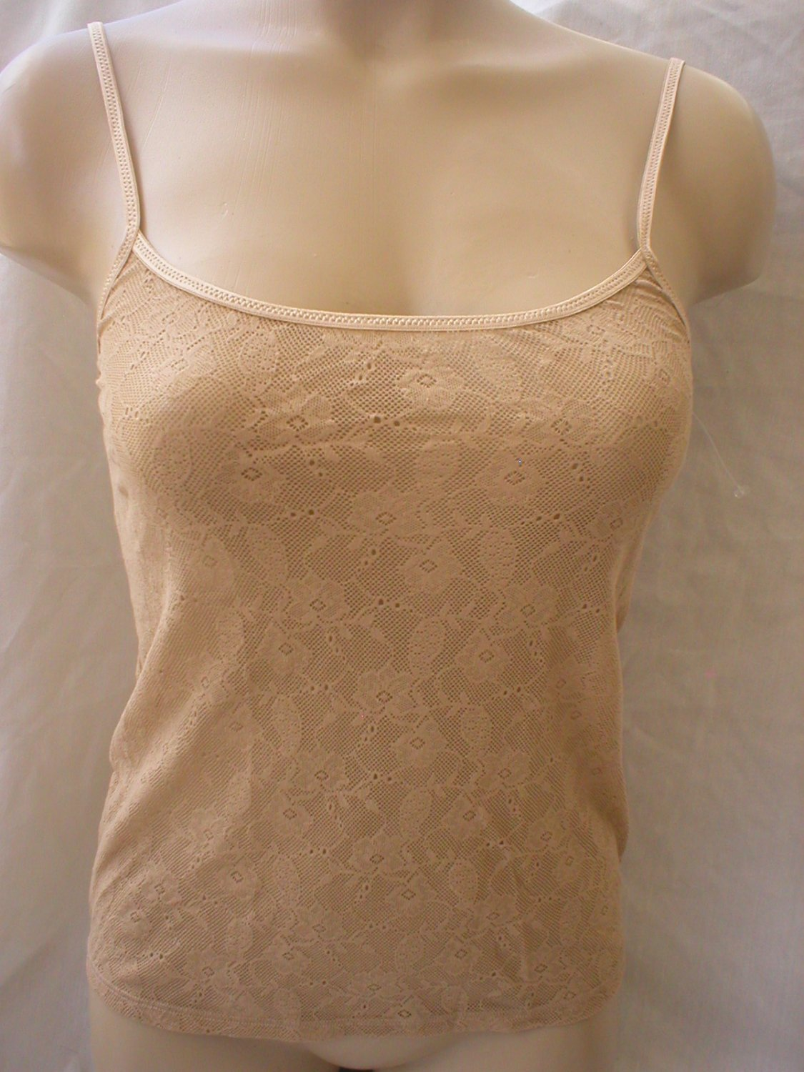 Calvin Klein Nude Sheer Lace Perfectly Fit Camisole Top F2858 S NWT