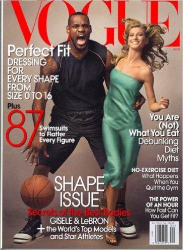 Vogue Magazine April 2008 Gisele Bundchen & LeBron James  NEW