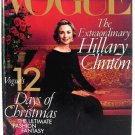 Vogue Magazine December 1998 Hillary Clinton NEW