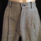 Banana Republic Black & White Herringbone Wool Career Pants 2
