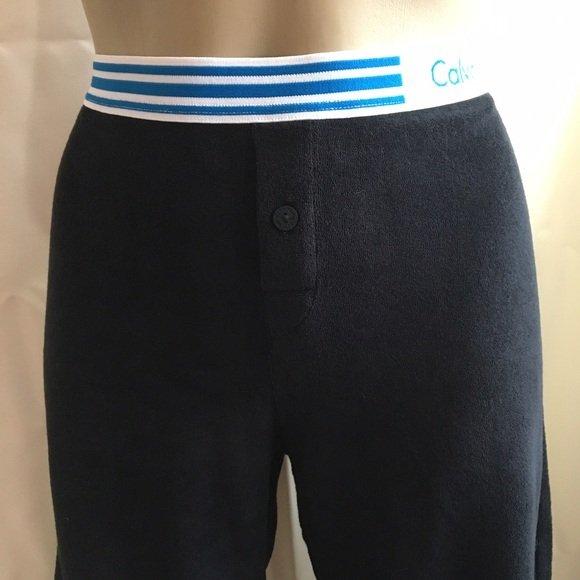 Calvin Klein Black Terry Athletic Sport Lounge Pants M NWT