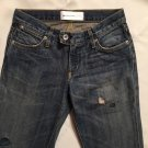 Paper Denim & Cloth Dark Blue Tinted Flea Rainbow Pocket Jeans Size 25 0 NWOT