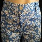 Ralph Lauren Petite Blue & White Floral Print Capri Pants 2
