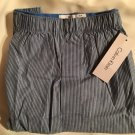 Calvin Klein Men's Blue, Black & White Striped Cotton Boxer Shorts U1625C M NWT