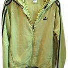 Adidas Green & Black Zip Athletic Sport Hoodie Jacket M