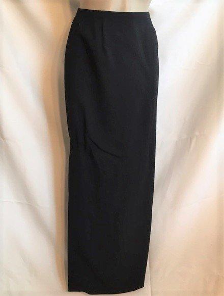 Ann Taylor Black Long Wool Skirt 2