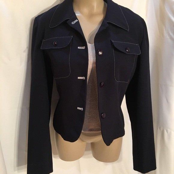 Ann Taylor Blue Jacket 6