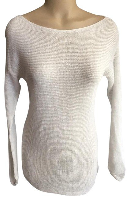 Ann Taylor White Lose Weave Sweater M