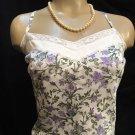 Ann Taylor Loft White Floral Camisole Tank Top 10P NWOT
