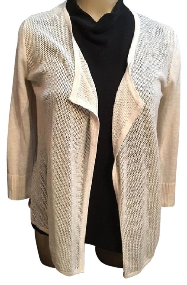Ann Taylor Tan Drape Cardigan Sweater XS
