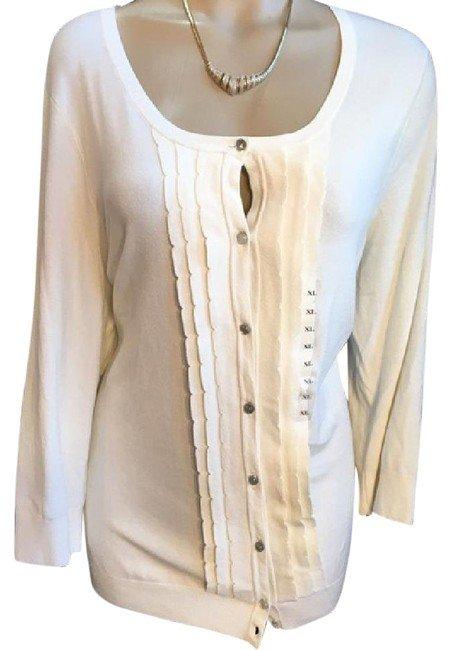 Ann Taylor Ivory Cardigan Sweater XL NWT