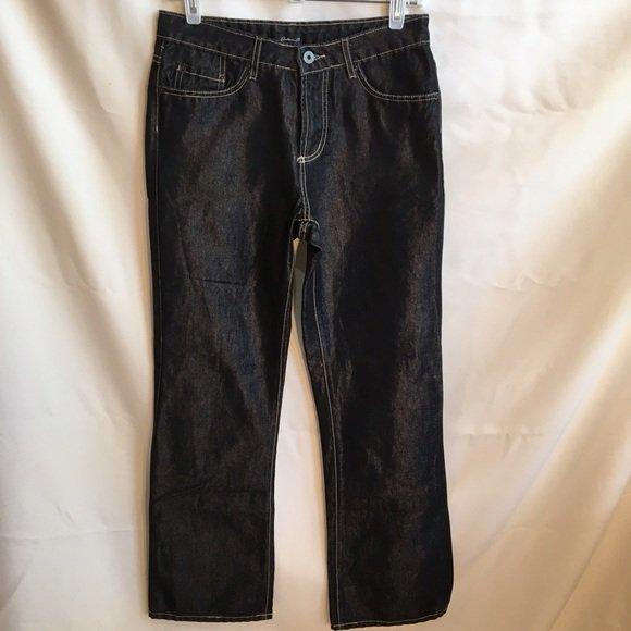 Arden B Black Shiny Denim Jeans 4