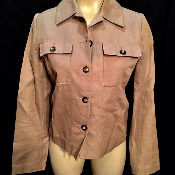 Banana Republic Brown Button Front Blazer Jacket XS NWT
