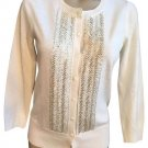 Banana Republic Ivory Sequin Cardigan Sweater S