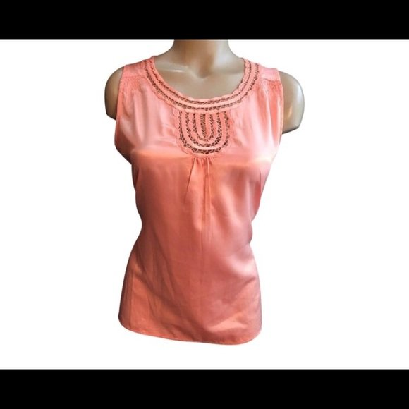 Banana Republic Coral Sleeveless Top M